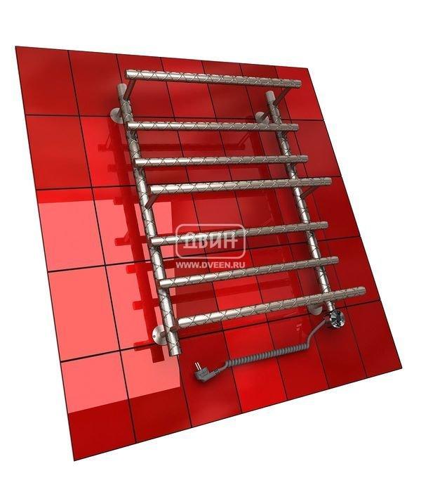 Электрический полотенцесушитель Двин Q TWIST 80/60 elЛесенка<br>Двин Q TWIST 80/60 el &amp;ndash; это модель функционального полотенцесушителя, использующего электрический греющий элемент польского производства. Элемент воздействует на залитый внутрь конструкции теплоноситель, который разработан специально для использования в таких целях и характеризуется полной экологической нейтральностью. Электрический полотенцесушитель очень удобен в использовании. Одно из главных его преимуществ &amp;ndash; работа на обогрев именно тогда, когда это нужно пользователю, в отличие от водяных приборов, подключаемых к системе ГВС.<br>Особенности и преимущества электрических полотенцесушителей Двин серии Q TWIST:<br><br>залит теплоноситель Теплый Дом ЭКО. Он производится на основе европейского высококачественного пропиленгликоля и предназначен для применения в системах отопления (экологически безопасен)<br>установлен нагревательный ТЭН Terma (производитель Польша)<br>блок управления ТЭНом имеет очень простое управление - всего 3 кнопки: &amp;laquo;+&amp;raquo; и &amp;laquo;-&amp;raquo; и кнопка вкл/выкл.<br>производятся с учетом особенностей нашей системы горячего водоснабжения и отопления.<br><br>Комплектация:<br><br>полотенцесушитель<br>упаковка (картонная коробка, полиэтиленовый пакет)<br>гарантийный талон<br>паспорт на изделие<br>фитинги:<br><br><br>колпачок декоративный - 2 шт<br>клапан &amp;laquo;Маевского&amp;raquo; - 2 шт<br>муфта переходная с крепежным поворотным кольцом - 2 шт<br>кронштейн телескопический -2 шт<br>уплотнительная прокладка 6 шт<br>угловое соединение г/г 1* на 3/4*-2 шт<br>отражатель декоративный &amp;frac34;-2 шт<br>эксцентрик &amp;frac12; на &amp;frac34;-2 шт.<br><br>Выберите свой цвет полотенцесушителя:<br>&amp;nbsp;<br>При заказе в цвете вся фурнитура и краны тоже будут окрашены в цвет.<br>Цена указана за полотенцесушители без цветного покрытия. Для определения стоимости прибора в цвете обратитесь к менеджеру.<br>Обратите внимание! Товар поставляется под 