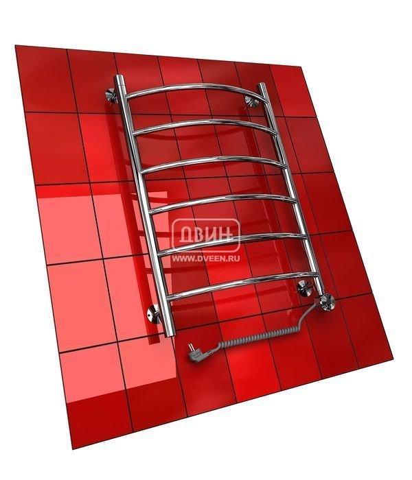 Электрический полотенцесушитель Двин R (1 - 1/2) 60/50 elЛесенка<br>Двин&amp;nbsp;R (1 - 1/2) 60/50&amp;nbsp;el&amp;nbsp;предлагает комфортную сушку текстильных изделий в пределах ванной комнаты и дополнительный обогрев воздуха в помещении. Данное устройство является электрическим полотенцесушителям типа &amp;laquo;лесенка&amp;raquo; и выполнено из пищевой нержавеющей стали. Производитель гарантирует длительный период работы прибора (срок службы более 10 лет).<br>Особенности и преимущества электрических полотенцесушителей Двин серии R el:<br><br>Залит теплоноситель Теплый Дом ЭКО. Он производится на основе европейского высококачественного пропиленгликоля и предназначен для применения в системах отопления (экологически безопасен)<br>Установлен нагревательный ТЭН Terma (производитель Польша)<br>Блок управления ТЭНом имеет очень простое управление - всего 3 кнопки: &amp;laquo;+&amp;raquo; и &amp;laquo;-&amp;raquo; и кнопка вкл/выкл.<br>Производятся с учетом особенностей нашей системы горячего водоснабжения и отопления.<br>Пищевая нержавеющая сталь - AISI 304.<br>Толщина стенки коллектора - 2 мм.<br>Давление при испытании - 40 атм.<br>Рабочая температура 30-80&amp;deg;С.<br>Питание электрической сети - 220В 50Гц.<br>Экономичное потребление энергии.<br>Тепловая мощность в зависимости от типоразмера полотенцесушителя до 630 Q-Вт.<br><br>Комплектация:<br><br>полотенцесушитель,<br>упаковка (картонная коробка, полиэтиленовый пакет),<br>гарантийный талон,<br>паспорт на изделие,<br>комплект крепежей.<br><br>Выберите свой цвет полотенцесушителя:<br>&amp;nbsp;<br>Цена указана за полотенцесушители без цветного покрытия. Для определения стоимости прибора в цвете обратитесь к менеджеру.<br>Обратите внимание! Полотенцесушитель в цвете поставляется под заказ. Срок выполнения заказа 10 дней.<br>Серия R el представляет модельный ряд элегантных полотенцесушителей, которые рационально используют электрическую энергию, что позволит сэкономить денежные ресурсы. Производителем данного обору