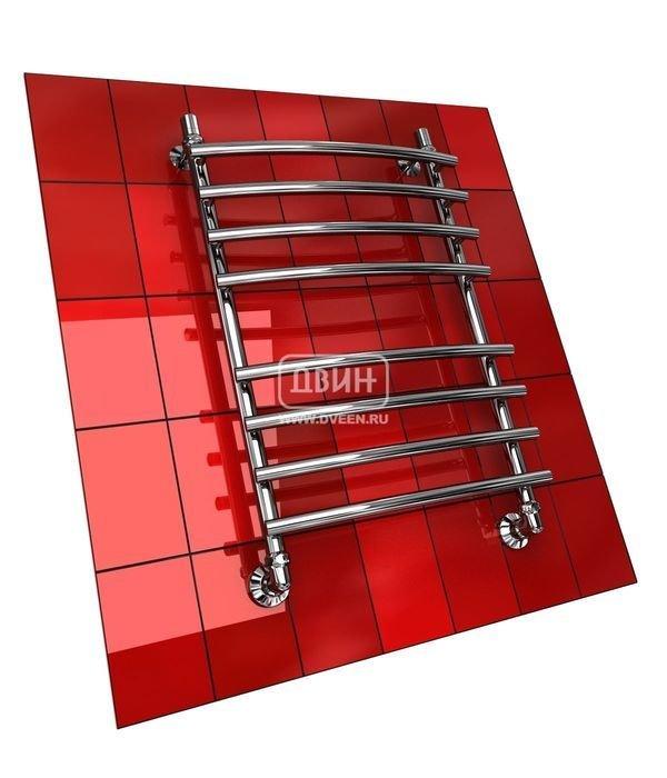 Водяной полотенцесушитель лесенка Двин R PRIMO 100/50Лесенка<br>Если вас необходим дополнительный источник тепла для ванной комнаты, не спешите приобретать обогреватель. Лучше присмотритесь к водяному функциональному полотенцесушителю Двин R PRIMO 100/50, который используется горячую воду из централизованной системы ГВС и не нуждается в электрической энергии, вместе с тем показывая отличную теплоотдачу.<br>Особенности и преимущества водяных полотенцесушителей Двин серии  R PRIMO<br><br>Полотенцесушитель оборудован клапаном Маевского (находится под декоративным колпачком), что позволяет без труда удалить образовавшуюся воздушную пробку<br>Количество перекладин зависит от высоты полотенцесушителя<br>Материал:  пищевая нержавеющая сталь марки AISI304<br>Толщина стенки коллектора:  2,0 мм<br>Рабочее давление:  8 атм (24,5 атм max)<br>Давление при испытании:  40 атм<br>Максимально возможная температура воды 110 С<br>Маркировка:  Фирменная голограмма и лазерная гравировка номера партии<br>Тепловая мощность, в зависимости от типоразмера полотенцесушителя, составляет до 770 Q-Вт<br>Срок службы:  Более 10 лет<br><br>Комплектация:<br><br>полотенцесушитель<br>упаковка (картонная коробка, полиэтиленовый пакет)<br>гарантийный талон<br>паспорт на изделие<br>фитинги:<br><br><br>клапан Маевского   2шт.,<br>декоративный колпачек   2шт,<br>крепеж телескопический   1 шт,<br>уголок гайка/гайка 1/   ,<br>отражатель глубокий   ,<br>эксцентрик   /  .<br><br>Выберите свой цвет полотенцесушителя:<br> <br>При заказе в цвете вся фурнитура и краны тоже будут окрашены в цвет.<br>Цена указана за полотенцесушители без цветного покрытия. Для определения стоимости прибора в цвете обратитесь к менеджеру.<br>Обратите внимание! Товар поставляется под заказ. Срок выполнения заказа 10 дней.<br>Торговая марка Двин известна как производитель надежных стальных полотенцесушителей. Серия  R PRIMO    это стальные водяные модели, безопасные, практичные, долговечные. Полотенцесушители этого семейства могут быть
