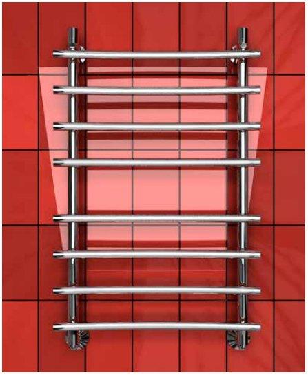 Электрический полотенцесушитель Двин R PRIMO BACK 100/50 elЛесенка<br>Сушка различных текстильных изделий, обогрев комнаты и улучшение визуального образа помещений &amp;ndash; прямые задачи, которые может решить электрический полотенцесушитель типа &amp;laquo;лесенка&amp;raquo;&amp;nbsp;Двин&amp;nbsp;R&amp;nbsp;PRIMO&amp;nbsp;BACK 100/50&amp;nbsp;el. Материал конструкции &amp;ndash; пищевая нержавеющая сталь, максимальная температура поверхности &amp;ndash; 60 градусов. Импортный нагревательный ТЭН из Польши.<br>Особенности и преимущества электрических полотенцесушителей Двин серии R PRIMO BACK el:<br><br>Залит теплоноситель Теплый Дом ЭКО. Он производится на основе европейского высококачественного пропиленгликоля и предназначен для применения в системах отопления (экологически безопасен)<br>Установлен нагревательный ТЭН Terma (производитель Польша)<br>Блок управления ТЭНом имеет очень простое управление - всего 3 кнопки: &amp;laquo;+&amp;raquo; и &amp;laquo;-&amp;raquo; и кнопка вкл/выкл.<br>Производятся с учетом особенностей нашей системы горячего водоснабжения и отопления.<br>Пищевая нержавеющая сталь - AISI 304.<br>Толщина стенки коллектора - 2 мм.<br>Давление при испытании - 40 атм.<br>Рабочая температура 30-80&amp;deg;С.<br>Питание электрической сети - 220В 50Гц.<br>Экономичное потребление энергии.<br>Тепловая мощность в зависимости от типоразмера полотенцесушителя до 680 Q-Вт.<br><br>Комплектация:<br><br>полотенцесушитель,<br>упаковка (картонная коробка, полиэтиленовый пакет),<br>гарантийный талон,<br>паспорт на изделие,<br>комплект крепежей.<br><br>Выберите свой цвет полотенцесушителя:<br>&amp;nbsp;<br>Цена указана за полотенцесушители без цветного покрытия. Для определения стоимости прибора в цвете обратитесь к менеджеру.<br>Обратите внимание! Полотенцесушитель поставляется под заказ. Срок выполнения заказа 10 дней.<br>Для серии R PRIMO BACK el характерны модели полотенцесушителей, которые работают от электричества и имеют ряд положительных особенностей и в