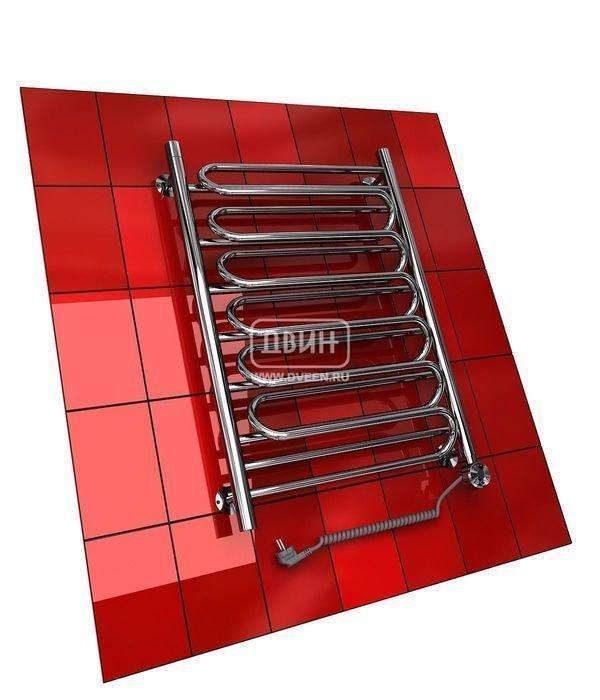 Электрический полотенцесушитель Двин Ww (1 - 1/2) 100/50 elЛесенка<br>Электрический полотенцесушитель Двин Ww (1 - 1/2) 100/50 el   актуальное оборудование для ванной комнаты, в которой всегда требуется дополнительное тепло и возможность высушить полотенца, белье и другие текстильные изделия. Доступен контроль температурного режима с помощью терморегулятора. Нагревательный элемент польского производства; теплоноситель экологически безопасен.<br>Особенности и преимущества электрических полотенцесушителей Двин серии Ww el:<br><br>Залит теплоноситель Теплый Дом ЭКО. Он производится на основе европейского высококачественного пропиленгликоля и предназначен для применения в системах отопления (экологически безопасен)<br>Установлен нагревательный ТЭН Terma (производитель Польша)<br>Блок управления ТЭНом имеет очень простое управление - всего 3 кнопки:  +  и  -  и кнопка вкл/выкл.<br>Производятся с учетом особенностей нашей системы горячего водоснабжения и отопления.<br>Пищевая нержавеющая сталь - AISI 304.<br>Толщина стенки коллектора - 2 мм.<br>Давление при испытании - 40 атм.<br>Рабочая температура 30-80 С.<br>Питание электрической сети - 220В 50Гц.<br>Экономичное потребление энергии.<br>Тепловая мощность в зависимости от типоразмера полотенцесушителя до 880 Q-Вт.<br><br>Комплектация:<br><br>полотенцесушитель,<br>упаковка (картонная коробка, полиэтиленовый пакет),<br>гарантийный талон,<br>паспорт на изделие,<br>комплект крепежей.<br><br>Выберите свой цвет полотенцесушителя:<br> <br>Цена указана за полотенцесушители без цветного покрытия. Для определения стоимости прибора в цвете обратитесь к менеджеру.<br>Обратите внимание! Полотенцесушитель поставляется под заказ. Срок выполнения заказа 10 дней.<br>Серия Ww el   это широкий модельный ряд электрических полотенцесушителей, которые могут удовлетворить желания даже самого вдумчивого клиента. Модели имеют элегантный и эргономичный дизайн, который не отвлекает от интерьера комнаты, а только дополняет помещение. Функциональным
