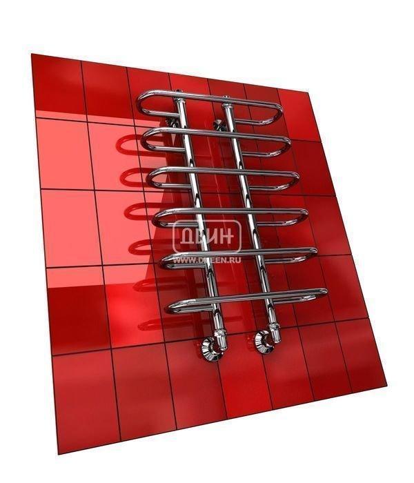 Водяной полотенцесушитель лесенка Двин Y (1 - 1/2) 100/60Лесенка<br>Двин Y (1 - 1/2) 100/60   это отличная альтернатива электрическим обогревателям, если вам необходим дополнительный источник тепла. С ним вы не затратите лишней электрической энергии, а вот температура в ванной комнате станет заметно выше. Представленный агрегат берет тепловую энергию от горячей воды контура ГВС, к которому и подключается при монтаже.<br>Особенности и преимущества водяных полотенцесушителей Двин серии  Y<br><br>Полотенцесушитель оборудован клапаном Маевского (находится под декоративным колпачком), что позволяет без труда удалить образовавшуюся воздушную пробку<br>Количество перекладин зависит от высоты полотенцесушителя<br>Пищевая нержавеющая сталь марки AISI304<br>Толщина стенки коллектора:  2,0 мм<br>Давление при испытании:  40 атм<br>Максимально возможная температура воды 110 С<br>Маркировка:  Фирменная голограмма и лазерная гравировка номера партии<br>Тепловая мощность, в зависимости от типоразмера полотенцесушителя, составляет до 660 Q-Вт<br>Срок службы более 10 лет<br><br>Комплектация:<br><br>полотенцесушитель<br>упаковка (картонная коробка, полиэтиленовый пакет)<br>гарантийный талон<br>паспорт на изделие<br>фитинги:<br><br><br>клапан Маевского   2 шт,<br>декоративный колпачок   2 шт,<br>крепеж телескопический   1 шт,<br>уголок гайка/гайка 1/  ,<br>отражатель глубокий  ,<br>эксцентрик   /  .<br><br>Выберите свой цвет полотенцесушителя:<br> <br>При заказе в цвете вся фурнитура и краны тоже будут окрашены в цвет.<br>Цена указана за полотенцесушители без цветного покрытия. Для определения стоимости прибора в цвете обратитесь к менеджеру.<br>Обратите внимание! Товар поставляется под заказ. Срок выполнения заказа 10 дней.<br>Полотенцесушители Двин серии  Y    это не всем привычная обычная лесенка, производитель постарался привнести в их форму оригинальности, и ему это удалось. Такие агрегаты однозначно впишутся в современные интерьеры ванных комнат, где акцент был сделан на хай-теке