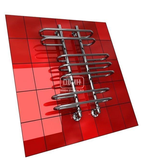 Водяной полотенцесушитель лесенка Двин Z (1 - 1/2) 100/50Лесенка<br>Стенка стальной трубы, из которой изготовлен полотенцесушитель Двин Z (1 - 1/2) 100/50, имеет толщину 2 мм. При производстве агрегата были применены современные технологии обработки и сварки. Все это обусловило высочайшую степень надежности полотенцесушителя, поэтому производитель с уверенностью заявляет о десятилетнем эксплуатационном периоде, но протяжении которых прибор будет служить просто безукоризненно.<br>Особенности и преимущества водяных полотенцесушителей Двин серии  Z<br><br>Полотенцесушитель оборудован клапаном Маевского (находится под декоративным колпачком), что позволяет без труда удалить образовавшуюся воздушную пробку<br>Количество перекладин зависит от высоты полотенцесушителя<br>Пищевая нержавеющая сталь марки AISI304<br>Толщина стенки коллектора:  2,0 мм<br>Давление при испытании:  40 атм<br>Максимально возможная температура воды 110 С<br>Маркировка:  Фирменная голограмма и лазерная гравировка номера партии<br>Тепловая мощность, в зависимости от типоразмера полотенцесушителя, составляет до 660 Q-Вт<br>Срок службы более 10 лет<br><br>Комплектация:<br><br>полотенцесушитель<br>упаковка (картонная коробка, полиэтиленовый пакет)<br>гарантийный талон<br>паспорт на изделие<br>фитинги:<br><br><br>клапан Маевского   2 шт,<br>декоративный колпачок   2 шт,<br>крепеж телескопический   1 шт,<br>уголок гайка/гайка 1/  ,<br>отражатель глубокий  ,<br>эксцентрик   /  .<br><br>Выберите свой цвет полотенцесушителя:<br> <br>При заказе в цвете вся фурнитура и краны тоже будут окрашены в цвет.<br>Цена указана за полотенцесушители без цветного покрытия. Для определения стоимости прибора в цвете обратитесь к менеджеру.<br>Обратите внимание! Товар поставляется под заказ. Срок выполнения заказа 10 дней.<br>Оригинальная форма полотенцесушителей Двин серии  Z  никого не оставит равнодушным. Это все те же практичные и функциональные приборы-лесенки с подводом горячей воды, однако их облик заслуживает отдельн