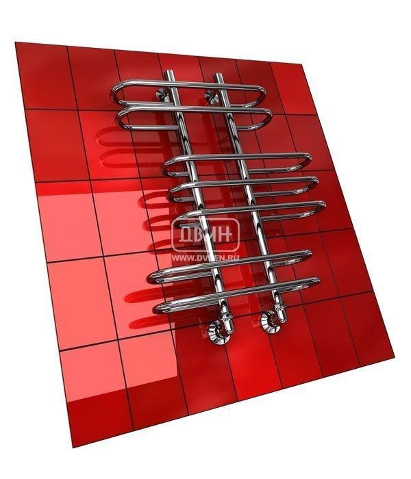 Водяной полотенцесушитель лесенка Двин Z (1 - 1/2) 120/40Лесенка<br>Стенка стальной трубы, из которой изготовлен полотенцесушитель Двин Z (1 - 1/2) 120/40, имеет толщину 2 мм. При производстве агрегата были применены современные технологии обработки и сварки. Все это обусловило высочайшую степень надежности полотенцесушителя, поэтому производитель с уверенностью заявляет о десятилетнем эксплуатационном периоде, но протяжении которых прибор будет служить просто безукоризненно.<br>Особенности и преимущества водяных полотенцесушителей Двин серии  Z<br><br>Полотенцесушитель оборудован клапаном Маевского (находится под декоративным колпачком), что позволяет без труда удалить образовавшуюся воздушную пробку<br>Количество перекладин зависит от высоты полотенцесушителя<br>Пищевая нержавеющая сталь марки AISI304<br>Толщина стенки коллектора:  2,0 мм<br>Давление при испытании:  40 атм<br>Максимально возможная температура воды 110 С<br>Маркировка:  Фирменная голограмма и лазерная гравировка номера партии<br>Тепловая мощность, в зависимости от типоразмера полотенцесушителя, составляет до 660 Q-Вт<br>Срок службы более 10 лет<br><br>Комплектация:<br><br>полотенцесушитель<br>упаковка (картонная коробка, полиэтиленовый пакет)<br>гарантийный талон<br>паспорт на изделие<br>фитинги:<br><br><br>клапан Маевского   2 шт,<br>декоративный колпачок   2 шт,<br>крепеж телескопический   1 шт,<br>уголок гайка/гайка 1/  ,<br>отражатель глубокий  ,<br>эксцентрик   /  .<br><br>Выберите свой цвет полотенцесушителя:<br> <br>При заказе в цвете вся фурнитура и краны тоже будут окрашены в цвет.<br>Цена указана за полотенцесушители без цветного покрытия. Для определения стоимости прибора в цвете обратитесь к менеджеру.<br>Обратите внимание! Товар поставляется под заказ. Срок выполнения заказа 10 дней.<br>Оригинальная форма полотенцесушителей Двин серии  Z  никого не оставит равнодушным. Это все те же практичные и функциональные приборы-лесенки с подводом горячей воды, однако их облик заслуживает отдельн
