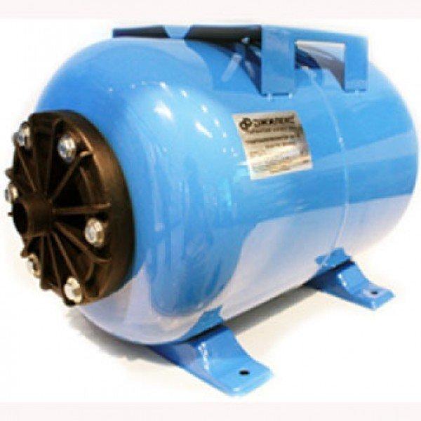 Гидроаккумулятор Джилекс 50 ГП50 литров<br>Гидроаккумулятор 50 ГП   элемент системы водоснабжения с насосом, который выполняет несколько функций. Модель с объемом бака 50 литров предназначена для горизонтальной установки в системах с чистой водой и поверхностными насосами мощностью более 1 кВт.<br>Особенности оборудования 50 Г:<br><br>Мембраны, используемые в гидроаккумуляторах, можно заменять;<br>Назначение: накапливание воды под давлением, снижение вероятности гидроударов в системе, обеспечение запаса воды, предохраняет насосное оборудование от частого включения;<br>Гидроаккумулятор рекомендован для насосов мощностью выше 1000 Вт;<br>Выбор аккумулятора для воды зависит от мощности насоса,<br>Материал мембраны   каучук специального назначения (бутилкаучук);<br>На бак можно устанавливать насос   наличие креплений;<br>Для горизонтальной установки;<br>Предназначен для работы с чистой водой. <br><br>Гидроаккумуляторы выполняют важную роль в системах водоснабжения с электрическими насосами. Насосное оборудование, используемое для подачи воды, бывает различных типов, поэтому учитывая особенности работы насосов, гидроаккумуляторы также имеют различную конструкцию. К примеру, для поверхностных насосов часто используют горизонтальные гидробаки, на которых для удобства установки предусмотрены крепления для насоса. А вот для погружного насосного оборудования требуется больший объем бака, что обуславливается частотой его включения. <br><br>Страна: Россия<br>Производитель: Россия<br>Назначение: Для холодной воды<br>Установка: Горизонтальный<br>Объем бака, л: 50<br>Запас воды, л: None<br>Мембрана: Заменяемая<br>Цвет: Голубой<br>Рабочая темп., С: +1 до +35<br>Рабочее давление, бар: 2<br>Max давление, бар: 8<br>Габариты ВхШхГ, см: 350х540х375<br>Вес, кг: 7<br>Гарантия: 1 год<br>Ширина мм: 5400<br>Высота мм: 3500<br>Глубина мм: 3750