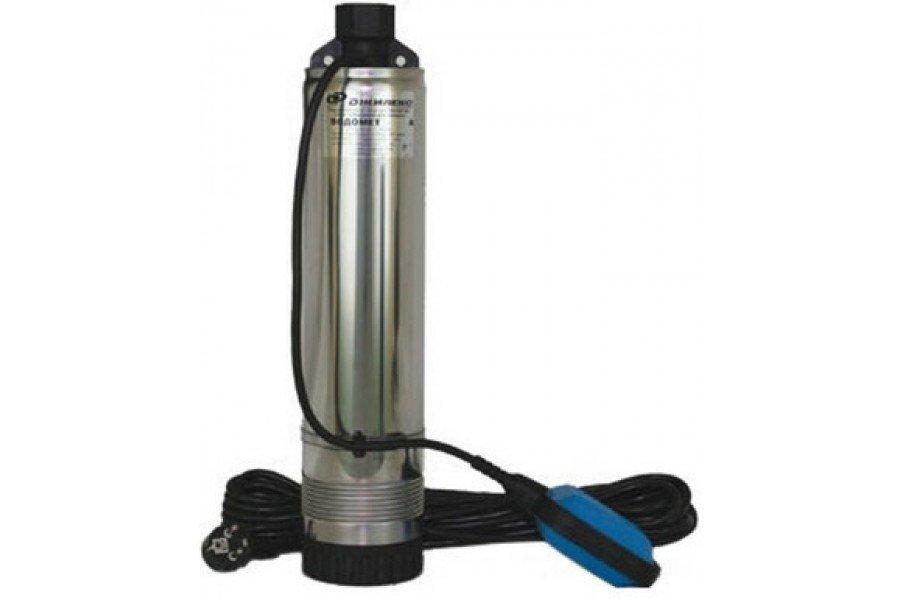 Погружной насос Джилекс ВОДОМЕТ 55/50 АКолодезные насосы<br>Электрический насос погружного типа  Водомет  55/50 А   оборудование для подачи воды из колодцев или скважин, но также может использоваться и в открытых водоемах. Насос представленной серии имеет поплавковый выключатель, который не позволяет работать прибору при отсутствии воды. Примером использования является установка насоса в колодце.<br>Особенности насосного оборудования серии  Водомёт  А:<br><br>Электронасос погружной, тип: цетробежный, многоступенчатый;<br>Для скважин с маленьким дебетом диаметром от 110 мм;<br>Насос оснащен поплавковым выключателем;<br>Может использоваться для подачи воды, которая содержит большое количество песка во взвешенном состоянии   до 50 г/м3;<br> Плавающее  рабочее колесо;<br>Большой гидравлический КПД;<br>Компактная конструкция   электродвигатель расположен над насосной частью;<br>Кабель электропитания выведен через верхнюю крышку питания   это уменьшает габариты насоса;<br>Прочная конструкция   применение высококачественных материалов, таких как керамики и графита (подшипники), полимеров (рабочее колесо, диффузоры);<br>Два уплотнения надежно изолирую части насоса от воздействия внешней среды и увеличивают срок службы насоса;<br>Насос может быть погружен в воду на глубину до 30 метров под зеркалом воды;<br>Возможность использования насоса в мелких водоемах частично погруженным   10-15 см;<br>Надежная защита от перегрева   электродвигатель омывается потоком воды;<br>Защита от перепадов напряжения и перегрузок по току;<br>Встроенный конденсатор упрощает монтаж насоса;<br>Термовыключатель вынесен за пределы маслонаполненной области;<br>Низкий уровень шума при работе насоса;<br>Срок эксплуатации   до 10 лет. <br><br>Погружные насосы  Водомёт  А благодаря своей конструкции и особенностей используются не только в глубоких скважинах, но и прекрасно работают в открытых водоемах (в частично погруженном состоянии). Благодаря  плавающему  рабочему колесу, насосное оборудование типа  В