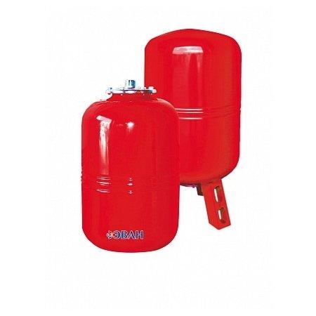 Расширительный бак Эван HIT 18&gt; 500 литров<br>Мембранный расширительный бак для отопительных систем Эван HIT 18 имеет удобную обтекаемую форму, монтируется на стену. Модель создана для сглаживания перепадов температуры теплоносителя, выдерживает скачки от -10 до +100 градусов. Объем устройства составляет 18 литров, корпус из стали окрашен красной краской, имеет сменную резиновую мембрану.   <br>Особенности и преимущества:<br><br>Предназначены для компенсации температурных расширений теплоносителя в замкнутых системах отопления.<br>Корпус бака сделан из высококачественной стали.<br>Мембрана выполнена из специальной резины и является сменной.<br>Баки свыше 750 литров комплектуются манометрами.<br>Температурный режим работы от  10 до +100о С.<br>Давление воздушной полости   1,5 бар.<br><br>Серия HIT от торговой марки Эван представлена широким ассортиментом баков мембранного типа, разработанных для систем отопления. В арсенале преимуществ оборудования изготовление из первоклассной стали, отличная сопротивляемость разрушительному воздействию воды и высоких температур, долговечность и герметичность конструкции. Линейка включает огромный модельный ряд мембранных баков емкостью от 8-ми до 10 000 литров.<br><br>Страна: Россия<br>Производитель: Россия<br>Объем, л: 18<br>Рабочая темп. С: 10...+100<br>Давление, бар: 1,5<br>Max рабочее давление, бар: 5<br>Покрытие бака: Нерж. сталь<br>Присоединительный диаметр, мм: 3/4<br>Габариты ВхШхГ, мм: 402х280х280<br>Вес, кг: 5<br>Гарантия: 1 год<br>Ширина мм: 280<br>Высота мм: 402<br>Глубина мм: 280
