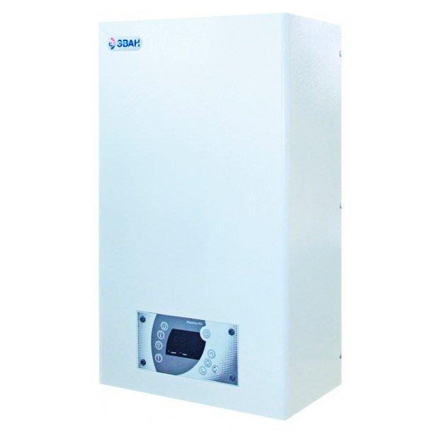 Котел Эван Warmos RX-4,74 кВт<br>Электроотопительный котел  Эван  Warmos RX-4,7  класса  КОМФОРТ  комплектуется ТЭНами из высококачественной нержавеющей стали. Производитель оснастил оборудование специальным термостатом, который способен изменять температурный уровень с точностью до 1 градуса, пользователь корректирует температуру в пределах от 30 до 85 градусов. На лицевой части корпуса есть интуитивно понятный дисплей, с помощью которого можно быстро программировать работу котла, а так же дисплей придает современный вид прибору. <br>Преимущества и функциональные возможности электротопительного котла Эван Warmos RX класса  КОМФОРТ :<br><br>ТЭНы из нержавеющей стали<br>Ступенчатый нагрев ТЭН для продления срока службы<br>Встроенный циркуляционный насос<br>Стабильность работы при пониженном напряжении до 160 В<br>Колодка для подключения датчика температуры воздуха / модуля GSM-Climate<br>Защита от перегрева   аварийный самовозвратный датчик (температура срабатывания   92 3 С)<br>Контроль давления в системе отопления<br>Защита от повышенного (3 бар) и пониженного (0.7 бар) давления<br>Защита от перегрева силовых исполнительных элементов<br>Защита от ошибочного подключения питания клиентом<br>Интуитивно-понятный дисплей<br>Теплоизоляция корпуса<br><br>Представленная серия электроотопительного котла Эван  Warmos-RX  класса  КОМФОРТ  имеет самые высокие показатели энергоэффективности в процессе функционирования. Котел используется для отопления жилых и коммерческих помещений, отличный вариант для объектов малого и среднего бизнеса. Производитель использует современный подход к конструкции. Улучшенный тип рабочего программирования мощностью системы гарантирует равномерное и плавное 5-ти ступенчатое регулирование мощности. В качестве теплоносителя используется незамерзающая жидкость, которая бесшумно нагревается и полностью безопасна в процессе эксплуатации. Предусмотрены специальные схемы, которые обеспечивают стабильность работы при низком или высоком напряжении. Пользов