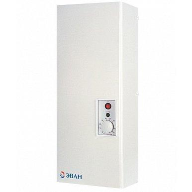 Котел Эван С2 - 2120 кВт<br>Если ваша дача, коттедж или индивидуальный дом нуждается в постоянном основном отоплении или резервном источнике тепла, отличным приобретением станет надежный электрический котел ЭВАН С2 - 21 с высоким качеством исполнения и серьезной системой защиты. Такое оборудование обеспечивает очень высокий коэффициент полезного действия и подойдет для обслуживания помещений площадью до 210 квадратных метров.<br>Особенности рассматриваемого отопительного котла от компании ЭВАН:<br><br>Блочные ТЭНы из нержавеющей стали<br>Плавная регулировка температуры теплоносителя в диапазоне от 30 до 85 С<br>Встроенный термостат<br>Возможность подключения внешнего термостата<br>Упрощенная замена нагревательных элементов<br>Колодка для подключения циркуляционного насоса и датчика температуры воздуха/ модуля GSM-Climate<br>Защита от перегрева   аварийный самовозвратный датчик (температура срабатывания   92 3 С)<br>КПД   99 %<br>Современная эргономичная конструкция корпуса<br>Простая и удобная система управления<br>Гарантия   18 месяцев<br><br>Отопительное оборудование, как и любая друга современная техника, не стоит на месте   развиваясь, компании пополняют линейки товаров новыми, еще более удобными и качественными моделями. Не отстает от других и компания Эван. Линейка класса  Стандарт  придется по душе всем, кто решил оборудовать системой отопления свой дом или дачу, или же небольшое складское или производственное помещение. <br><br>Страна: Россия<br>Производство: Россия<br>Режим работы: Отопление<br>Тип установки: Вертикальная<br>Колво нагревательных тэнов: 2<br>Номинальный ток, A: 50<br>Потребляемая мощность, Вт: 21,0<br>Площадь отопления, м?: 210<br>Max полезная мощность, кВт: 21,0<br>Min полезная мощность, кВт: None<br>Max давление отопит контура , Атм: 3,0<br>Min давление отопит контура , Атм: 0,5<br>Расширительный бак: Нет<br>Циркуляционный насос: Нет<br>Каскадное соединение котлов: Да<br>Управление GSM: Нет<br>Возможность подключения бойлера ГВС: Да<br>При