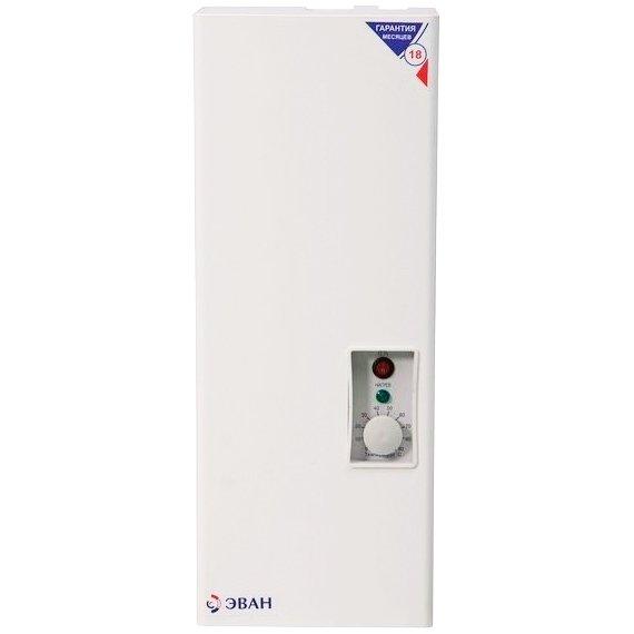 Котел Эван С2 - 44 кВт<br>Электрический отопительный котел Эван С2 - 4 создан специально для отопления различных помещений бытового и производственного назначения, максимальной площадью 40 кв. метров. Модель котла, дополненная бойлером может использоваться для горячего водоснабжения. Конструкция оснащена платой управления, подключается к электросети, имеет настенный тип установки.<br>Особенности и преимущества:<br><br>Модельный ряд с диапазоном мощности от 3 до 30 кВт.<br>Блочные ТЭНы из нержавеющей стали Backer.<br>Обновленный дизайн.<br>Улучшенная внутренняя компоновка, уменьшенный вес изделий малых мощностей.<br>Универсальность подключения к одно- и трехфазным сетям (220/380В) моделей до 9 кВт.<br>Плавная регулировка температуры теплоносителя в диапазоне от 30 до 85оС.<br>Колодка для подключения циркуляционного насоса и датчика температуры воздуха/модуля GSM/Wi-Fi-Climate.<br>Защита от перегрева   аварийный самовозвратный датчик (температура срабатывания   92 3оС).<br>Высокий КПД (до 99%).<br><br>Торговая марка Эван   известный российский производитель теплового оборудования. Их отопительные электрические котлы, представленные в широком диапазоне мощностей, станут отличным выбором для обслуживания самых разнообразных объектов. Модели компактны, удобны и безопасны, отличаются отличным исполнением и высокой эффективностью, неприхотливы и долговечны.<br><br>Страна: Россия<br>Производство: Россия<br>Режим работы: Отопление<br>Тип установки: Настенная<br>Колво нагревательных тэнов: 1<br>Номинальный ток, A: None<br>Потребляемая мощность, Вт: None<br>Площадь отопления, м?: 40<br>Мощность, кВт: 4,0<br>Min полезная мощность, кВт: None<br>Max давление отопит контура , Атм: 3,0<br>Min давление отопит контура , Атм: None<br>Расширительный бак: Нет<br>Циркуляц. насос: Нет<br>Каскадное соединение котлов: Нет<br>Управление GSM: Нет<br>Возможность подключения бойлера ГВС: Нет<br>Присоединительный диаметр котур отопления, дюйм: None<br>Потребление, кВт/ч: 4000<br>Напряжение, В: 2