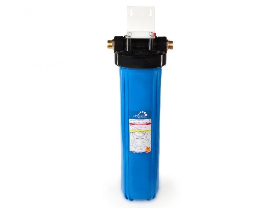 Фильтр для воды Гейзер Джамбо-20Магистральные<br>Фильтр магистрального типа Джамбо-20 от российского бренда-производителя Гейзер предназначен для тонкой очистки исключительно холодной воды (не более 40оС) от различных механических примесей, а также способен улучшить показатель прозрачности фильтруемой воды. Картридж модели РР 5   20ВВ (фильтрующий элемент), устанавливаемый внутрь разборной колбы, разработан и создан при согласовании со всеми установленными на данный момент международными стандартами качества и производительности. Корпус представленного водоочистителя изготовлен из высокопрочного пластика, что делает его устойчивым к большому давлению.<br>Компания Гейзер располагает широким ассортиментом фильтров для воды магистрального типа. На страницах нашего онлайн-каталога посетители смогут найти решения для холодной и горячей воды, для глубокой или механической очистки, умягчающие и неизменно высокоэффективные, производительные, удобные, современные и долговечные. Кроме того, торговая марка Гейзер в своей продукции смогла сочетать все эти преимущества с весьма демократичной ценой, что делает их магистральные фильтры конкурентоспособными и невероятно популярными на российском рынке.<br><br>Страна: Россия<br>Колво степеней очистки: 1<br>Фильтрация, л/м.: 45,0<br>Емкость, л: None<br>Раб. давление, атм: 7<br>Раб. температура, С: до +40<br>Умягчение: None<br>Минерализатор: None<br>Очистка от хлора: None<br>Очистка от тяжелых металлов: None<br>Очистка от ржавчины: Есть<br>Очистка от пестицидов: None<br>Очистка от фенола: None<br>Габариты, мм: 620x185x185<br>Вес, кг: 5<br>Гарантия: 1 год<br>Ширина мм: 185<br>Высота мм: 620<br>Глубина мм: 185