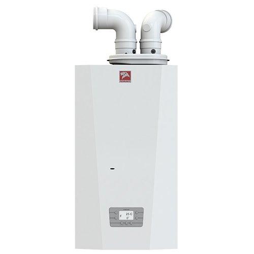 Котел Лемакс PRIME-V2424 кВт<br>Быстро и без каких-либо трудностей наладить в доме высокоэффективную отопительную систему и при этом обеспечить абсолютную безопасность всех жильцов поможет современный газовый котел Лемакс PRIME-V24   мощный и производительный агрегат, рассчитанный на установку настенного типа. Новейшая комплектация представленного устройства обеспечивает длительный срок его эксплуатации.<br>Особенности и преимущества настенных газовых котлов Лемакс серии  PRIME-V :<br><br>Производятся исключительно из европейских комплектующих таких производителей как SIT, OTMA, WILO, Polidoro, Valmex, NordGas.<br>Прошли итоговое тестирование в лабораториях Polidoro, NordGas, Natalini и SIT.<br>Идеально подходит для установки в квартирах и индивидуальных домах. Адаптированы к перепадам давления газа.<br>Коэффициент полезного действия 92,5%.<br>Максимальная длина коаксиального дымохода до 5,5 м.<br>Увеличенный объём камеры сгорания обеспечивает полное сгорание газа и увеличивает срок эксплуатации теплообменника.<br>Независимый теплообменник контура горячего водоснабжения.<br>Латунная гидравлическая группа.<br>Встроенный в плату трансформатор розжига.<br>Навесные датчики отопления и ГВС.<br>Возможность подключения различных видов термостатов и беспроводных систем управления комфортом в доме (в том числе для IOS и Android).<br>Расширенный диапазон рабочего напряжения котла.<br>Эргономичный современный дизайн с тщательно продуманными деталями.<br>Надежная конструкция, обеспечивающая долговечность.<br>Полная безопасность эксплуатации.<br>Комфорт использования.<br><br>Новейшие настенные газовые котлы Лемакс серии  PRIME-V  представляют собой усовершенствованные модели отопительного оборудования, специально адаптированные к российским условиям эксплуатации. Комплектация котлов рассматриваемой серии включает в себя передовые элементы европейского производства, что гарантирует качество и высокую надежность всех агрегатов.<br><br>Страна: Россия<br>Производство: Россия<br>Тип 