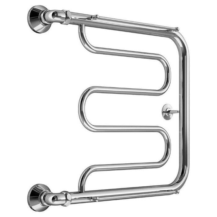 Водяной полотенцесушитель Маргроид Вид 25 (1) 50*60Фокстроты<br>Обратите внимание! Комплект крепежей и фитингов в комплект не входит и докупается отдельно.Избежать появления запаха сырости в помещении ванной, а также комфортно повысить температуру воздуха до оптимальных параметров поможет компактный настенный полотенцесушитель Маргроид Вид 25 (1). Агрегат был выполнен из высококачественной пищевой стали, не боится высокой влажности и агрессивного воздействия среды, а также характеризуется увеличенным сроком эксплуатации.<br>Особенности и преимущества полотенцесушителя от компании Маргроид:<br><br>Материал - нержавеющая сталь.<br>Подключается к системе отопления или горячего водоснабжения.<br>Срок службы полотенцесушителя 10 и более лет.<br>Рабочее давление до 8 атм.<br>Максимальное давление - 24,5 атм.<br>Максимальная температура воды - 105 C.<br>Поддерживают тепло и сухость в ванной комнате на протяжении всего отопительного периода.<br>Не потребляют электроэнергию.<br>Не требуют заземления.<br>Подвергаются контролю качества на каждом этапе производства.<br>Изготовлены в строгом соответствии со стандартами.<br>Обладают эстетической привлекательностью.<br>Гармонично сочетаются с любым дизайном ванной комнаты.<br>Произведен в России.<br>Имеют страховку и гарантию.<br>Срок гарантии 3 года.<br><br>Если товара нет в наличии, срок изготовления заказа составляет 5-10 дней.<br>Для создания комфортно микроклимата в ванных комнатах с небольшой площадью и любым ремонтом отлично подойдут новейшие водяные полотенцесушители серии Маргроид Вид 25 (1), отличающиеся оригинальной передовой конструкцией и высокой прочностью. Полотенцесушители имеют современную эргономичную форму, удобную для размещения и высушивания большого количества вещей.<br><br>Страна: Россия<br>Производитель: Россия<br>Тип: Водяной<br>Форма: Фокстрот<br>Цвет: Хром<br>РазмерыВШ, мм: 500x600<br>Межосевое расст., мм: None<br>t поверхности, C: 70<br>Подключение: Боковое<br>Min давление: 8<br>Max давление: 24.5<br>Ве