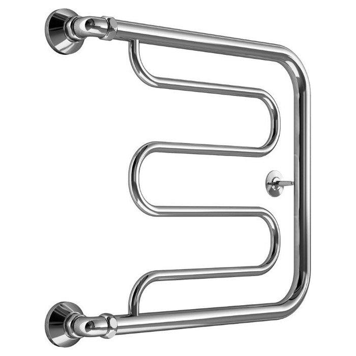Водяной полотенцесушитель Маргроид Вид 26 (1) 50*70Фокстроты<br>Современный полотенцесушитель Маргроид Вид 26 (1) отличается эргономичной конструкцией, удобными компактными размерами и привлекательным внешним исполнением. Представленный агрегат отлично подойдет для установки в ванной комнате, как в квартире, так и в индивидуальном доме или на объектах других типов. Устройство имеет продолжительный срок эксплуатации и не подвержено преждевременному износу.<br>Особенности и преимущества полотенцесушителя от компании Маргроид:<br><br>Материал - нержавеющая сталь.<br>Подключается к системе отопления или горячего водоснабжения.<br>Срок службы полотенцесушителя 10 и более лет.<br>Рабочее давление до 8 атм.<br>Максимальное давление - 24,5 атм.<br>Максимальная температура воды - 105&amp;deg;C.<br>Поддерживают тепло и сухость в ванной комнате на протяжении всего отопительного периода.<br>Не потребляют электроэнергию.<br>Не требуют заземления.<br>Подвергаются контролю качества на каждом этапе производства.<br>Изготовлены в строгом соответствии со стандартами.<br>Обладают эстетической привлекательностью.<br>Гармонично сочетаются с любым дизайном ванной комнаты.<br>Произведен в России.<br>Имеют страховку и гарантию.<br>Срок гарантии 3 года.<br><br>Если товара нет в наличии, срок изготовления заказа составляет 5-10 дней.<br>Серия полотенцесушителей Маргроид Вид 26 (1) была создана для эксплуатации в небольших ванных и душевых комнатах, где существуют особые требования к внешнему виду устанавливаемых моделей. Полотенцесушители отличаются стильным современным внешним исполнением, легко устанавливаются в желаемом месте, а их специальная конструкция позволяет без труда высушивать большое количество предметов одежды и полотенец.<br><br>Страна: Россия<br>Производитель: Россия<br>Тип: Водяной<br>Форма: Фокстрот<br>Цвет: Хром<br>РазмерыВШ, мм: 500x700<br>Межосевое расст., мм: None<br>t поверхности, C: 70<br>Подключение: Боковое<br>Min давление: 8<br>Max давление: 24.5<br>Вес, кг: 4<br>Г