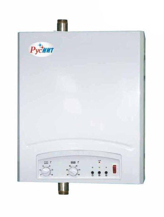 Котел Руснит -224 М24 кВт<br>Электрический отопительный агрегат РусНИТ-224 М имеет надежную систему защиты, что позволяет осуществлять установку оборудования в помещениях с повышенной влажностью и вблизи человека. Встроенный датчик уровня теплоносителя в системе не позволит работать, если система заполнена не полностью.  Теплоносителем может выступать, как обычная вода, так и антифриз.<br>Особенности и преимущества рассматриваемой модели электрического котла отопления от бренда РусНИТ:<br><br>Электрокотел способен поддерживать температуру воздуха в помещении в диапазоне от +5 до +30 С с точностью +0,5 С.<br>Материал основного теплообменника изготовлен из качественной нержавеющей стали.<br>Регулируемый датчик ограничения максимальной температуры теплоносителя с возможностью регулировки температуры теплоносителя от +35 до +85  С.<br>Датчик уровня теплоносителя, исключающий возможность включения электрокотла с незаполненной теплоносителем системой отопления.<br>Термовыключатель, исключающий нагрев теплоносителя свыше 90 С.<br>Для повышения эффективности работы систем отопления возможно применение циркуляционных насосов.<br>В котле использованы нержавеющие ТЭНы, смонтированные в корпусе из нержавеющей стали.<br>Конструкция котла позволяет использовать в качестве теплоносителя как воду, так и антифриз.<br>Электрокотлы  РусНИТ  полностью соответствуют требованиям по безопасности.<br><br>Серия электрических котлов отопления РусНИТ-М разработана для бытового применения, например, в частных домах, коттеджах или на дачах. Все модели семейства изготовлены из качественных материалов, основной теплообменник исполнен из нержавеющей стали. Надежная система безопасности исключает перегрев оборудования, а также возможность работы, если система не заполнена теплоносителем. Стоит отметить, что в качестве последнего может выступать и вода и антифриз. <br><br>Страна: Россия<br>Производство: Россия<br>Режим работы: Отопление<br>Тип установки: Настенная<br>Колво нагревательных тэнов: 1<br