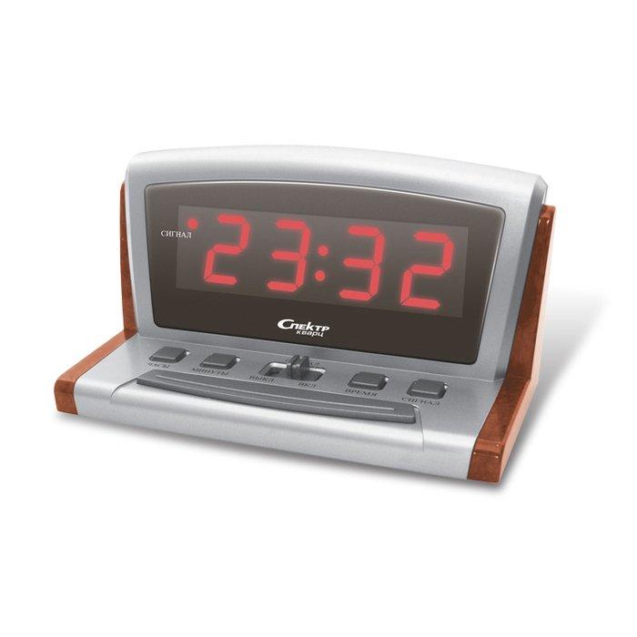 Часы без проекции Спектр СК 0918 Ш(Д)-КЧасы без проекции<br>Спектр СК 0918 Ш(Д)-К   это сетевые электронные часы от надежной торговой марки, которая заботится о нуждах и комфорте своих потребителей, создавая удобные в быту и эргономичные для человека устройства. Модель показывает текущее время в 24-х часовом формате, что очень удобно и привычно для жителей стран СНГ. Цвет индикации   красный, что комфортно для глаз в ночное время суток.<br>Основные достоинства рассматриваемой модели настольных часов от компании Спектр:<br><br>Кварцевый механизм высокой точности.<br>Будильник.<br>Автоматическое повторение сигнала будильника (snooze). Если включена функция повтора сигнала будильника, то будильник снова сработает примерно через 8 - 9 минут после отключения. Можно отключить эту функцию.<br>Регулировка яркости индикации. С помощью переключателя можно отрегулировать яркость отображения времени. Положение + - более яркое, положение - - стандартная яркость свечения.<br>Формат времени 24 ч.<br>Питание от сети.<br><br>Настольные часы от торговой марки Спектр   это огромная линейка всевозможных современных моделей с различным дизайнерским решением и функционалом, которые могут заинтересовать самую разную аудиторию. Модели от данного производителя отличаются высоким качеством сборки, компактными размерными характеристиками, простой и современностью. <br><br>Страна: Россия<br>Питание, В: Сеть/Бат.<br>Тип батарейки: КРОНА<br>Колво батареек: 1<br>Адаптер к 220В: Есть<br>С будильником: Да<br>Радиодатчик: Нет<br>С метеостанцией: Нет<br>В помещении t, С: Нет<br>За окном t, С: Нет<br>Влажность в помещении: Нет<br>Влажность за окном: Нет<br>Давление: Нет<br>Прогноз погоды: Нет<br>Габариты, мм: 130x100x65<br>Вес, кг: 1<br>Гарантия: 1 год<br>Ширина мм: 100<br>Высота мм: 130<br>Глубина мм: 65