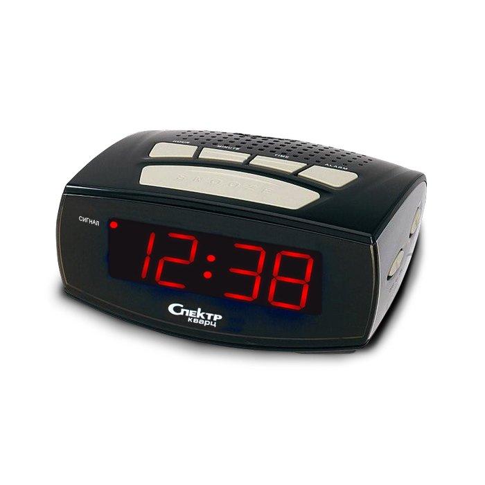 Часы без проекции Спектр СК 0933-С-КЧасы без проекции<br>Домашние сетевые часы с будильником Спектр СК 0933-С-К   это наиболее актуальное решение для бытового использования, так как данное изделие очень точное и отличается лаконичным цветовым и дизайнерским исполнением. Предусмотренный производителем будильник оснащен функцией повторяющегося через определенный промежуток времени сигнала   так вы точно не проспите важную встречу.<br>Основные достоинства рассматриваемой модели настольных часов от компании Спектр:<br><br>Кварцевый механизм высокой точности.<br>Будильник.<br>Автоматическое повторение сигнала будильника (snooze). Если включена функция повтора сигнала будильника, то будильник снова сработает примерно через 8 - 9 минут после отключения. Можно отключить эту функцию.<br>Функция ночного светильника.<br>Формат времени 24 ч.<br>Питание от сети.<br><br>Настольные часы от торговой марки Спектр   это огромная линейка всевозможных современных моделей с различным дизайнерским решением и функционалом, которые могут заинтересовать самую разную аудиторию. Модели от данного производителя отличаются высоким качеством сборки, компактными размерными характеристиками, простой и современностью. <br><br>Страна: Россия<br>Питание, В: Сеть/Бат.<br>Тип батарейки: КРОНА<br>Колво батареек: 1<br>Адаптер к 220В: Есть<br>С будильником: Да<br>Радиодатчик: Нет<br>С метеостанцией: Нет<br>В помещении t, С: Нет<br>За окном t, С: Нет<br>Влажность в помещении: Нет<br>Влажность за окном: Нет<br>Давление: Нет<br>Прогноз погоды: Нет<br>Габариты, мм: 135x93x42<br>Вес, кг: 1<br>Гарантия: 1 год<br>Ширина мм: 93<br>Высота мм: 135<br>Глубина мм: 42