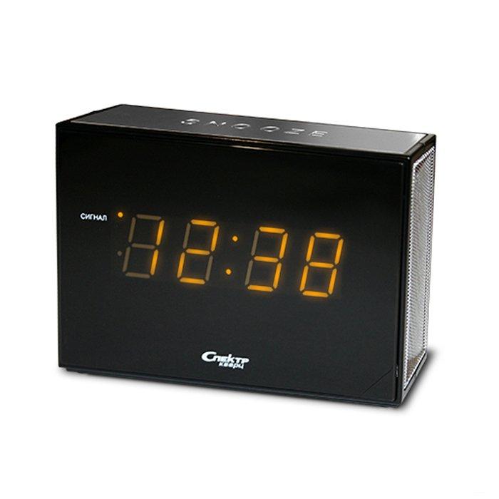 Часы без проекции Спектр СК 0935-С-ОЧасы без проекции<br>Спектр СК 0935-С-О   это лаконичная модель электронных часов, которая представляет собой интересную строгую геометричную конструкцию, выполненную из пластика высокого качества. На задней стороне расположены клавиши, позволяющие настраивать работу функций и само отображение времени. Производителем был предусмотрен будильник с функцией повтора сигнала.<br>Основные достоинства рассматриваемой модели настольных часов от компании Спектр:<br><br>Кварцевый механизм высокой точности.<br>Будильник.<br>Автоматическое повторение сигнала будильника (snooze). Если включена функция повтора сигнала будильника, то будильник снова сработает примерно через 8 - 9 минут после отключения. Можно отключить эту функцию.<br>Возможность регулировки громкости сигнала.<br>Формат времени 24 ч.<br>Питание от сети.<br><br>Настольные часы от торговой марки Спектр   это огромная линейка всевозможных современных моделей с различным дизайнерским решением и функционалом, которые могут заинтересовать самую разную аудиторию. Модели от данного производителя отличаются высоким качеством сборки, компактными размерными характеристиками, простой и современностью.<br><br>Страна: Россия<br>Питание, В: Сеть/Бат.<br>Тип батарейки: КРОНА<br>Колво батареек: 1<br>Адаптер к 220В: Есть<br>С будильником: Да<br>Радиодатчик: Нет<br>С метеостанцией: Нет<br>В помещении t, С: Нет<br>За окном t, С: Нет<br>Влажность в помещении: Нет<br>Влажность за окном: Нет<br>Давление: Нет<br>Прогноз погоды: Нет<br>Габариты, мм: 135x40x85<br>Вес, кг: 1<br>Гарантия: 1 год<br>Ширина мм: 40<br>Высота мм: 135<br>Глубина мм: 85