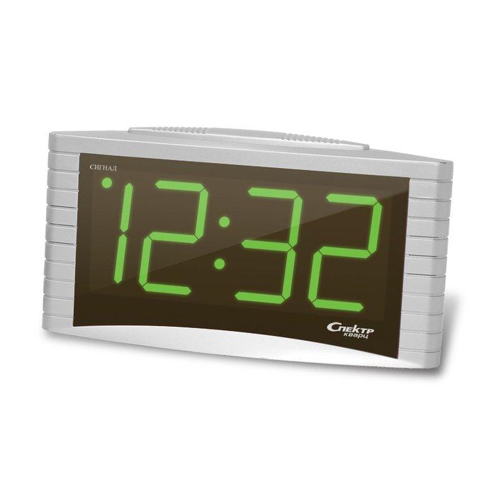 Часы без проекции Спектр СК 1809 С-ЗЧасы без проекции<br>Работающие от сети электропитания, настольные бытовые часы Спектр СК 1809 С-З   это ваш выбор, если вы ищите легкий способ всегда быть в курсе актуального значения времени и просыпаться вовремя, чтобы не пропустить важную встречу или мероприятие. Модель имеет красивый серебристый корпус, поэтому будет выглядеть лаконично независимо от месторасположения в вашем доме.<br>Основные достоинства рассматриваемой модели настольных часов от компании Спектр:<br><br>Кварцевый механизм высокой точности.<br>Будильник.<br>Автоматическое повторение сигнала будильника (snooze). Если включена функция повтора сигнала будильника, то будильник снова сработает примерно через 8 - 9 минут после отключения. Можно отключить эту функцию.<br>Возможность регулировки яркости дисплея<br>Формат времени 24 ч.<br>Питание от сети.<br><br>Настольные часы от торговой марки Спектр   это огромная линейка всевозможных современных моделей с различным дизайнерским решением и функционалом, которые могут заинтересовать самую разную аудиторию. Модели от данного производителя отличаются высоким качеством сборки, компактными размерными характеристиками, простой и современностью. <br><br>Страна: Россия<br>Питание, В: Сеть/Бат.<br>Тип батарейки: КРОНА<br>Колво батареек: 1<br>Адаптер к 220В: Есть<br>С будильником: Да<br>Радиодатчик: Нет<br>С метеостанцией: Нет<br>В помещении t, С: Нет<br>За окном t, С: Нет<br>Влажность в помещении: Нет<br>Влажность за окном: Нет<br>Давление: Нет<br>Прогноз погоды: Нет<br>Габариты, мм: 165x75x90<br>Вес, кг: 1<br>Гарантия: 1 год<br>Ширина мм: 75<br>Высота мм: 165<br>Глубина мм: 90