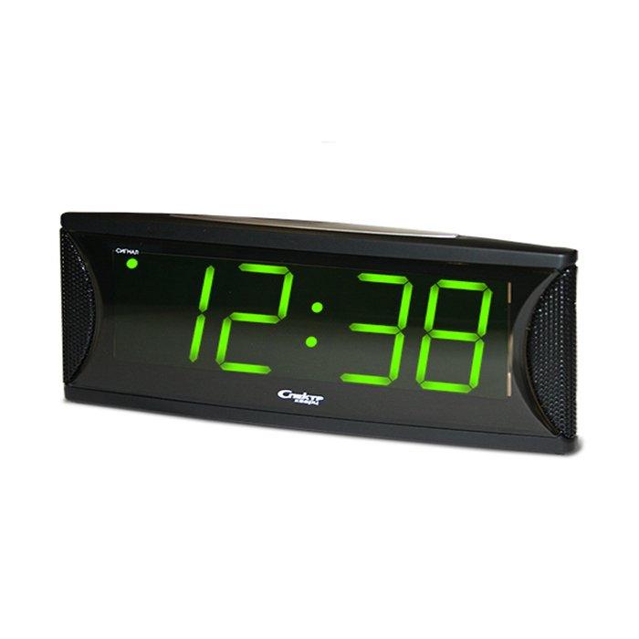 Часы без проекции Спектр СК 1810 Т(Х)-ЗЧасы без проекции<br>Спектр СК 1810 Т(Х)-З   это модель элегантных электронных часов, работающих от сети электропитания, и предназначенных для отображения актуального показателя текущего времени с помощью цифровой зеленой индикации. Представленная модель отличается привлекательным дизайнерским решением и будет лаконично смотреться на любом прикроватном столике.<br>Основные достоинства рассматриваемой модели настольных часов от компании Спектр:<br><br>Кварцевый механизм высокой точности.<br>Будильник.<br>Автоматическое повторение сигнала будильника (snooze). Если включена функция повтора сигнала будильника, то будильник снова сработает примерно через 8 - 9 минут после отключения. Можно отключить эту функцию.<br>Возможность регулировки громкости звука.<br>Формат времени 24 ч.<br>Питание от сети или от 3x батареек ААA.<br><br>Настольные часы от торговой марки Спектр   это огромная линейка всевозможных современных моделей с различным дизайнерским решением и функционалом, которые могут заинтересовать самую разную аудиторию. Модели от данного производителя отличаются высоким качеством сборки, компактными размерными характеристиками, простой и современностью.<br><br>Страна: Россия<br>Питание, В: Сеть/Бат.<br>Тип батарейки: AAA<br>Колво батареек: 3<br>Адаптер к 220В: Есть<br>С будильником: Да<br>Радиодатчик: Нет<br>С метеостанцией: Нет<br>В помещении t, С: Нет<br>За окном t, С: Нет<br>Влажность в помещении: Нет<br>Влажность за окном: Нет<br>Давление: Нет<br>Прогноз погоды: Нет<br>Габариты, мм: 205x65x85<br>Вес, кг: 1<br>Гарантия: 1 год<br>Ширина мм: 65<br>Высота мм: 205<br>Глубина мм: 85