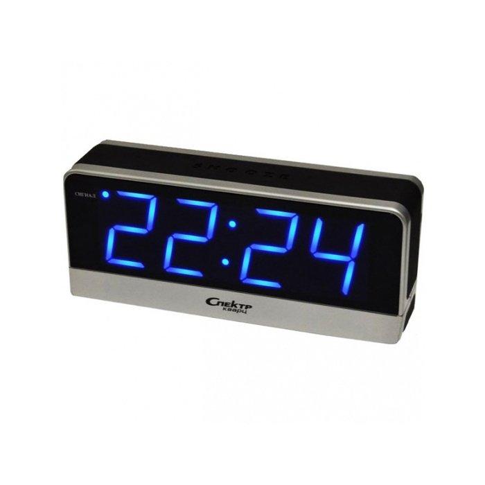 Часы без проекции Спектр СК 1817 С-СЧасы без проекции<br>Спектр СК 1817 С-С   это модель сетевых настольных часов, предназначенных не только для отображения актуальной информации о текущем времени, но для их использования в качестве будильника. Представленная модель показывает время с помощью цифровой индикации синего цвета, которую прекрасно видно в темноте за счет специальной подсветки. Предусмотрен автоматический повтор сигнала будильника.<br>Основные достоинства рассматриваемой модели настольных часов от компании Спектр:<br><br>Кварцевый механизм высокой точности.<br>Будильник.<br>Автоматическое повторение сигнала будильника (snooze). Если включена функция повтора сигнала будильника, то будильник снова сработает примерно через 8 - 9 минут после отключения. Можно отключить эту функцию.<br>Возможность регулировки яркости дисплея<br>Возможность регулировки громкости сигнала.<br>Формат времени 24 ч.<br>Питание от сети.<br><br>Настольные часы от торговой марки Спектр   это огромная линейка всевозможных современных моделей с различным дизайнерским решением и функционалом, которые могут заинтересовать самую разную аудиторию. Модели от данного производителя отличаются высоким качеством сборки, компактными размерными характеристиками, простой и современностью. <br><br>Страна: Россия<br>Питание, В: Сеть/Бат.<br>Тип батарейки: КРОНА<br>Колво батареек: 1<br>Адаптер к 220В: Есть<br>С будильником: Да<br>Радиодатчик: Нет<br>С метеостанцией: Нет<br>В помещении t, С: Нет<br>За окном t, С: Нет<br>Влажность в помещении: Нет<br>Влажность за окном: Нет<br>Давление: Нет<br>Прогноз погоды: Нет<br>Габариты, мм: 195x50x85<br>Вес, кг: 1<br>Гарантия: 1 год<br>Ширина мм: 50<br>Высота мм: 195<br>Глубина мм: 85