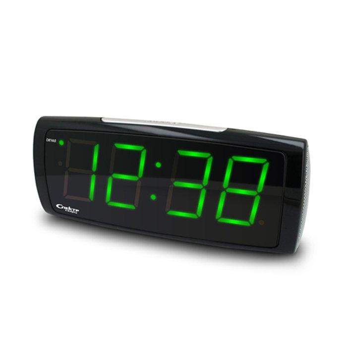 Часы без проекции Спектр СК 1819 Ч-ЗЧасы без проекции<br>Работающие от электричества, настольные часы от отечественной производственной компании Спектр СК 1819 Ч-З   это лаконичное интерьерное решение и полезный бытовой прибор, который поможет вам просыпаться по утрам, так как имеет функцию будильника с автоматическим повтором сигнала через определенный промежуток времени. Часы имеют цифровую зеленую индикацию.<br>Основные достоинства рассматриваемой модели настольных часов от компании Спектр:<br><br>Кварцевый механизм высокой точности.<br>Будильник.<br>Автоматическое повторение сигнала будильника (snooze). Если включена функция повтора сигнала будильника, то будильник снова сработает примерно через 8 - 9 минут после отключения. Можно отключить эту функцию.<br>Возможность регулировки яркости дисплея<br>Возможность регулировки громкости сигнала.<br>Формат времени 24 ч.<br>Питание от сети.<br><br>Настольные часы от торговой марки Спектр   это огромная линейка всевозможных современных моделей с различным дизайнерским решением и функционалом, которые могут заинтересовать самую разную аудиторию. Модели от данного производителя отличаются высоким качеством сборки, компактными размерными характеристиками, простой и современностью. <br><br>Страна: Россия<br>Питание, В: Сеть/Бат.<br>Тип батарейки: КРОНА<br>Колво батареек: 1<br>Адаптер к 220В: Есть<br>С будильником: Да<br>Радиодатчик: Нет<br>С метеостанцией: Нет<br>В помещении t, С: Нет<br>За окном t, С: Нет<br>Влажность в помещении: Нет<br>Влажность за окном: Нет<br>Давление: Нет<br>Прогноз погоды: Нет<br>Габариты, мм: 200x65x85<br>Вес, кг: 1<br>Гарантия: 1 год<br>Ширина мм: 65<br>Высота мм: 200<br>Глубина мм: 85