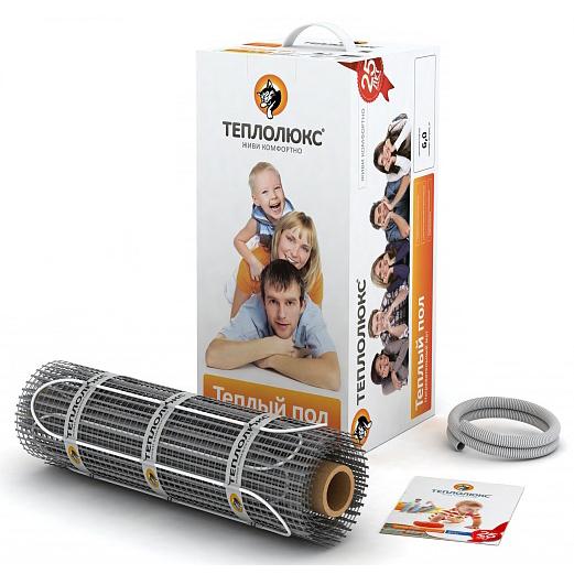 Комплект Теплолюкс МН-1420-9,50Нагревательные маты<br>Если у вас есть основная система отопления, но вам бы хотелось создать комфорт у себя дома и сделать ваш кафельный или каменный пол теплым, то оптимальным решением для вас станет комплект Теплолюкс MiNi МН-1420-9,50. Легко монтируется в плиточный клей, не требует создания цементной стяжки и подъема уровня пола. Комплект рассчитан на обогрев площади в 9,5 кв. м.<br><br>Основные преимущества использования рассматриваемой модели теплого пола серии ТЕПЛОЛЮКС MINI:<br><br>Нагревательный мат с одножильным кабелем.<br>Простота монтажа.<br>100% контроль качества.<br>Идеальное решение, как для дома, так и для помещений другого назначения.<br>Соответствие международным стандартам.<br>Передовые технологии.<br>Максимальная экономия электрической энергии.<br>Автономная работа.<br>Удобство и комфорт в эксплуатации.<br>Экологически безопасен.<br>Рекомендуется для установки в цементно-песчаную стяжку или слой плиточного клея.<br>Ровное распределение по поверхности пола.<br>Длительный срок безукоризненной службы.<br>Комплектация товара: Нагревательный мат, монтажная трубка, заглушка для монтажной трубки, инструкция по установке и эксплуатации.<br><br>ТЕПЛОЛЮКС MINI &amp;ndash; это серия оборудования для создания современных систем обогрева помещений от одного из ведущих представителей компаний-производителей на сегодняшнем рынке климатической техники. Рассматриваемая линейка включает в себя различные модели нагревательных &amp;nbsp;матов, которые помогут обогреть помещение любого типа. Каждая модель отличается высоким качеством и безопасностью, о чем свидетельствует длительный срок гарантии от производителя. Кроме того, все теплые полы от &amp;nbsp;компании Теплолюкс характеризуются скромным потреблением электрической энергии, что выгодно отличает их от других подобных моделей, представленных на современном рынке климатического оборудования. &amp;nbsp;<br><br>Мощность, кВт: 1,42<br>Страна: Россия<br>Удельная мощ., Вт/м?: None<br>