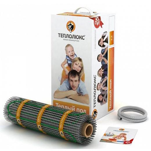 Комплект Теплолюкс МНН-535-3,50Нагревательные маты<br>Рулонный термомат Теплолюкс TROPIX МНН-535-3,50   это простой и удобный способ создания теплого пола в помещении. Греющий двухжильный кабель на стеклосетке легко монтируется, не требует специального создания стяжки. Толщина термомата очень невелика, благодаря кабелю толщиной 3 мм, что позволяет сохранить минимальную толщину пола в помещении. Походит как под плитку, так и под ламинат, паркет, линолеум.<br><br>Основные преимущества использования рассматриваемой модели теплого пола серии ТЕПЛОЛЮКС TROPIX :<br><br>Нагревательный мат с двужильным кабелем на стекловолоконной сетке.<br>Простота монтажа.<br>Быстрый и максимально равномерный обогрев по всей площади помещения.<br>100% контроль качества.<br>Идеальное решение, как для дома, так и для помещений другого назначения.<br>Соответствие международным стандартам.<br>Передовые технологии.<br>Максимальная экономия электрической энергии.<br>Автономная работа.<br>Удобство и комфорт в эксплуатации.<br>Экологически безопасен.<br>Рекомендуется для установки в слой плиточного клея.<br>Ровное распределение по поверхности пола.<br>Длительный срок безукоризненной службы.<br>Комплектация товара: Нагревательный мат, монтажная трубка, заглушка для монтажной трубки, инструкция по установке и эксплуатации.<br><br>В настоящее время рынок климатической техники изобилует различными системами отопления помещений, где абсолютно каждый моет найти все, что ему по душе. Все большую популярность набирают модели  Теплый пол  от различных производителей. Предлагаем вашему вниманию линейку качественного оборудования   TROPIX от отечественной торговой марки Теплолюкс.  Серия представлена нагревательными матами, состоящими из двужильного греющего провода с изоляцией и экранированным покрытием, размещенным на специальную монтажную сетку из стекловолокна. Все представленные модели прошли строгий контроль качества, благодаря чему гарантирован максимально длительный срок бесперебойной эксплуатации.  