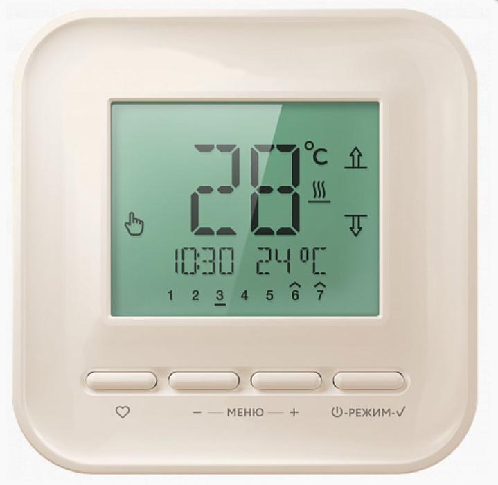 Теплый пол Теплолюкс ТР 515 кремовыйТерморегуляторы<br>ТР 515 кремовый   управляющее устройство (терморегулятор), позволяющий поддерживать комфортную температуру электрических обогревательных систем кабельного типа, например теплого пола, от российской компании Теплолюкс. Простой в управлении прибор, который поддерживает только функцию управления температурой нагрева поверхности теплого пола, имеет цифровой экран, на который выводиться текущая температура пола. Дополнительной функцией у терморегулятора ТР 515 является режим  время  - на экране будет отображаться текущее время.<br>Основные характеристики терморегулятора Теплолюкс серии ТР515 кремовый:<br><br>Современный дизайн, корпус кремового цвета, глянцевый пластик;<br>Тип   электронный;<br>Назначение   управление работой обогревательных систем;<br>Цифровой экран;<br>Высокая точность поддержания заданной температуры   до 0,5 0С;<br>Два вида индикации экрана: температура поверхности и текущее время;<br>Диапазон температурного регулирования от +50 до +430С;<br>Функция блокировки;<br>Класс защиты IP20;<br>Выносной датчик пола и сенсорный кабель длиной 2 метра входит в комплект;<br>Функция самодиагностики;<br>Монтаж настенный.<br><br><br>Страна: Россия<br>Мощность, кВт: 3,5<br>Канальная мощность, кВт: None<br>Длина, м: 2,0<br>Программирование: None<br>Площадь, м?: None<br>Управление: электронное<br>Функция защиты от перегрева: None<br>Тип кабеля: None<br>Размер, мм: 86х86х35<br>Напряжение, В: None<br>Вес, кг: 1<br>Гарантия: 3 года<br>Ширина мм: 86<br>Высота мм: 86<br>Глубина мм: 35