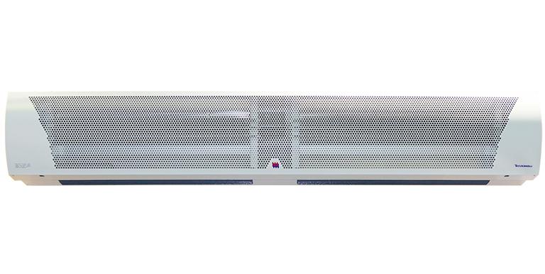 Электрическая тепловая завеса Тепломаш КЭВ-24П4021Е24 кВт<br>Тепловые завесы для проемов (окон, ворот, дверей) являются необходимой составляющей механизма энергосбережения систем вентиляции и отопления. Они создают мощный и скоростной поток воздуха, разделяющий внутреннее пространство помещения и окружающую среду на две температурные зоны, с помощью чего достигается и поддерживается требуемый температурный режим. Тем не менее, тепловые завесы не предназначены для использования в качестве основных обогревателей помещений. Они лишь обеспечивают энергосбережение, удерживая тепло, даваемое другими обогревательными приборами.<br>Массивный воздушный барьер, создаваемый тепловыми завесами, надежно сохраняет тепло и холод, а также чистый воздух, при открытых дверях в любое время года. В результате помещение надежно защищается от насекомых, пыли или неприятных запахов извне.<br>Завесы Тепломаш КЭВ-24П4021Е обычно ставятся над дверным или оконным проемом, но если такой монтаж не представляется возможным, то существует боковой вариант монтажа.<br>Предусмотрено управление завесой с помощью пульта дистанционного управления. Один пульт подходит для управления 1 6 завесами одновременно.<br>В модели применяются однофазные электродвигатели с регулируемой частотой вращения. Возможно раздельное включение нагревателя и вентилятора, что позволяет использовать завесу в теплое время года. Дополнительной, но необходимой функцией является задержка отключения вентилятора, обеспечивающая снятие остаточного тепла с нагревательных элементов и защиту от перегрева.<br><br>Страна: Россия<br>Производитель: Россия<br>Тип: Электрическая<br>Термостат в комплекте: Да<br>Расход воздуха, мsup3;/ч: 5200<br>Max высота, м: 4,5<br>Мощность, кВт: 24,0<br>Установка завесы: Горизонтальная<br>Регулировка температуры: Есть<br>Вентиляция без нагрева: Есть<br>Ширина завесы, м: 2<br>Пульт: Есть<br>Напряжение, В: 380 В<br>Вилка: None<br>Габариты ВхШхГ, см: 35x209x34<br>Вес, кг: 45<br>Гарантия: 2 года<br>Ширина мм: 20