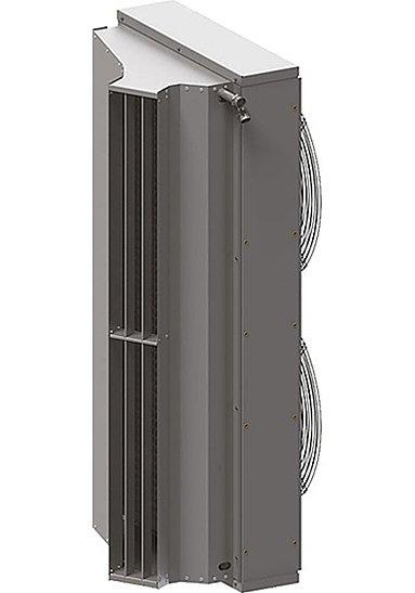 Электрическая тепловая завеса Тепломаш КЭВ-24П4050Е24 кВт<br>Тепловые завесы для проемов (окон, ворот, дверей) являются необходимой составляющей механизма энергосбережения систем вентиляции и отопления. Они создают массивный и скоростной поток воздуха, разделяющий внутреннее пространство помещения и окружающую среду на две температурные зоны, с помощью чего достигаются и поддерживаются требуемые климатические условия. Тем не менее, тепловые завесы не предназначены для использования в качестве основных обогревателей помещений. Они лишь обеспечивают энергосбережение, удерживая тепло, даваемое другими обогревательными приборами.<br>Мощный воздушный барьер, создаваемый тепловыми завесами, надежно сохраняет тепло и холод, а также чистый воздух, при открытых дверях в любое время года. В результате помещение надежно защищается от насекомых, пыли или неприятных запахов извне.<br>Тепловые завесы Тепломаш КЭВ-24П4050Е, как правило, устанавливаются над дверным или оконным проемом, но возможен и боковой монтаж, если традиционный вариант окажется трудно реализовать.<br>Предусмотрено управление завесой с помощью пульта дистанционного управления. Один пульт подходит для управления 1 6 завесами одновременно.<br>В модели применяются однофазные электродвигатели с регулируемой частотой вращения. Возможно раздельное включение нагревателя и вентилятора, что позволяет использовать завесу в теплое время года. Дополнительной, но необходимой функцией является задержка отключения вентилятора, обеспечивающая снятие остаточного тепла с нагревательных элементов и защиту от перегрева.<br>Тепломаш КЭВ-24П4050Е относится к серии 400   завесам с повышенной коррозионной стойкостью, которые предназначены для использования в помещениях с атмосферой, содержащей капельную влагу, например в автомойках. Корпус прибора выполнен из оцинкованной стали.<br><br>Страна: Россия<br>Тип: Электрическая<br>Расход воздуха, мsup3;/ч: 4500<br>Max высота, м: 5,0<br>Мощность, кВт: 24,0<br>Установка завесы: Горизонтальная
