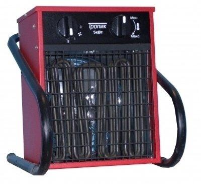 Керамический тепловентилятор Тропик ТПЦ-2Бытовые<br>Тропик ТПЦ-2 TV представляет собой современный маломощный вентилятор, который сможет осуществлять дополнительный обогрев помещений. Агрегат снабжен механическими ручками, которые дадут возможность регулировать температуру обогрева, а также переключать режимы работы. Работает тепловентилятор от бытовой сети переменного тока с напряжением 220 В.<br>Преимущества тепловентиляторов ТПЦ Тропик:<br><br>Бесшумная работа.<br>Современный дизайн хорошо сочетается с интерьером различных помещений коммерческого, технического или жилого назначения.<br>Специально разработанная ручка-подставка не только удобна для переноски, но и позволяет подвешивать тепловентилятор на стену или стойки при помощи кронштейнов.<br>Оснащены двойной системой тепловой защиты (биметаллический термостат и терморегулятор), которая разрывает электрическую сеть в случае аварийной ситуации и устраняет возможность перегрева.<br><br>Тепловентиляторы ТПЦ ТРОПИК комплектуются:<br><br>импортными ТЭНами;<br>импортным двигателем;<br>терморегулятором (выбор температуры бесступенчатый, в пределах от 0 до 40 С, погрешность терморегуляторов -  5 гр).<br><br>Тепловентиляторы семейства ТПЦ   одна из лучших разработок компании Тропик. Эти компактные устройства будут отличным выбором для небольших помещений. Тепловентиляторы предназначены для установки на полу в горизонтальном положении. Для наиболее комфортного размещения компания-производитель предусмотрела в конструкции устойчивые металлические ножки, которые исключают и опрокидывание, и скольжение прибора.  Тепловентиляторы ТПЦ оснащены первоклассными комплектующими, что гарантирует долгий срок службы приборов.<br><br>Страна: Россия<br>Мощность, кВт: 2,0<br>Площадь, м?: 20<br>Тип нагревательного элемента: Трубчатый<br>Тип регулятора: Механический<br>Защита от перегрева: Есть<br>Отключение при опрокидывании: Есть<br>Ионизатор: Нет<br>Дисплей: Нет<br>Пульт: Нет<br>Габариты, мм: 371x267x305<br>Вес, кг: 5<br>Гарантия: 1 г