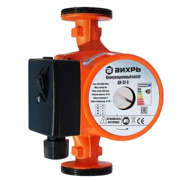 Циркуляционный насос Вихрь ЦН-32-8Насосы ГВС<br>Представляем вашему вниманию передовой насос циркуляционного типа&amp;nbsp;Вихрь ЦН-32-8. Данное оборудование позволяет создавать на объектах безопасные и долговечные системы отопления, обеспечивая стабильность давления воды и характеризуясь при этом экономичным потреблением электроэнергии. Такой надежный и прочный насос был исполнен из передовых устойчивых материалов.<br>Особенности и преимущества насосов Вихрь представленной серии:<br><br>Производительность &amp;nbsp;до 170 л/мин;<br>Крышка насоса изготовлена из чугуна, корпуса двигателя - из алюминия;<br>Три скорости работы;<br>Охлаждение и смазка керамических подшипников осуществляется перекачиваемой жидкостью;<br>Простота в использовании;<br>Бесшумность;<br>Небольшие габаритные размеры;<br>Большой срок эксплуатации.<br><br>Циркуляционные насосы Вихрь &amp;ndash; бесшумные и компактные агрегаты с современными конструкциями, предназначенные для универсального монтажа. Устройства используются с целью организации на объектах долговечных и эффективных отопительных систем и позволяют поддерживать стабильным давление воды в трубах. Все модели были исполнены из качественных материалов.<br><br>Страна: Россия<br>Производитель: Китай<br>Производительность, л/мин: 170<br>диаметр подсоединения, дюйм: 2<br>Монтажная длина, мм: None<br>Мощность, Вт: 145/220/245<br>Напряжение сети, В: 220 В<br>Раб. давление, бар: 10<br>Режим работы: 3 скорости<br>Max темп. жидкости, С: 110<br>Класс защиты: IP44<br>Качество воды: Чистая<br>Материал корпуса: Нет<br>Тип ротора: Мокрый<br>Установка насоса: Универсальная<br>Габариты ВхШхГ, см: 25x15x15<br>Вес, кг: 5<br>Гарантия: 1 год<br>Ширина мм: 150<br>Высота мм: 250<br>Глубина мм: 150