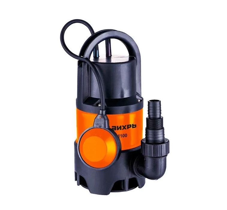 Дренажный насос Вихрь ДН-1100Дренажные насосы<br>Высокомощный дренажный насос модели Вихрь ДН-1100 погружается в резервуар наполненный водой и позволяет поддерживать определенный уровень наполнения, а также эффективно используется для осушения различных затопленных объектов. Конструкция рассматриваемого изделия позволяет безопасно применять его в загрязненной воде с разными примесями.<br>Особенности и преимущества насосов Вихрь представленной серии:<br><br>Поплавковый выключатель - автоматическая работа дренажного насоса Вихрь ДН-300 68/2/6;<br>Ударопрочный корпус из пластика;<br>Максимальная глубина всасывания до 8 м;<br>Патрубок универсального размера для подсоединения различных шлангов;<br>Ручка для переноски.<br><br>Дренажные насосы Вихрь предназначены для работы с чистой или загрязненной водой, отличаются высокой эффективностью энергопотребления и отлично защищены от внешнего воздействия. Представленное оборудование может применяться на промышленных или бытовых объектах; для комфортной эксплуатации модели снабжены автоматикой и самостоятельно начинают работу при повышении уровня воды.&amp;nbsp;<br><br>Страна: Россия<br>Производитель: Китай<br>Качество воды: Грязная<br>Производительность, л/мин: 258<br>Max напор, м: 8<br>Max глубина погружения, м: None<br>Мощность, Вт: 1100<br>Напряжение сети, В: 220 В<br>Длина кабеля, м: None<br>Защита от сухого хода: Да<br>Материал корпуса: Пластик<br>диаметр подсоединения, дюйм: 1 1/2<br>Max темп. жидкости, С: 35<br>Класс защиты: Нет<br>Габариты ВхШхГ, см: 39.9x20x10<br>Вес, кг: 3<br>Гарантия: 1 год<br>Ширина мм: 200<br>Высота мм: 399<br>Глубина мм: 100