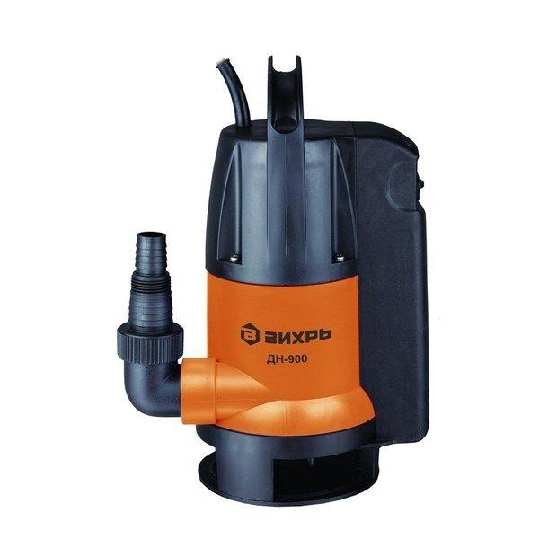 Дренажный насос Вихрь ДН-900250 л/мин<br>Современный и доступный дренажный насос Вихрь ДН-900 выполнен из прочного пластика и оснащен улучшенной изоляцией, обеспечивающей безопасность и долговечность представленной модели при постоянном контакте с водой. Установленная в представленном агрегате новейшая система управления позволяет организовать автоматическое включение насоса при повышении уровня воды.<br>Особенности и преимущества насосов Вихрь представленной серии:<br><br>Поплавковый выключатель - автоматическая работа дренажного насоса Вихрь ДН-300 68/2/6;<br>Ударопрочный корпус из пластика;<br>Максимальная глубина всасывания до 8 м;<br>Патрубок универсального размера для подсоединения различных шлангов;<br>Ручка для переноски.<br><br>Дренажные насосы Вихрь предназначены для работы с чистой или загрязненной водой, отличаются высокой эффективностью энергопотребления и отлично защищены от внешнего воздействия. Представленное оборудование может применяться на промышленных или бытовых объектах; для комфортной эксплуатации модели снабжены автоматикой и самостоятельно начинают работу при повышении уровня воды. <br><br>Страна: Россия<br>Производитель: Китай<br>Качество воды: Грязная<br>Производ. л/мин: 258,0<br>Max напор, м: 8<br>Max глубина погружения, м: 8<br>Мощность, Вт: 900,0<br>Напряжение сети, В: 220 В<br>Длина кабеля, м: None<br>Реле сух. хода: Да<br>Материал корпуса: Пластик<br>Min. диаметр выхода, : 1<br>Max темп. жидкости, С: 35<br>Класс защиты: Нет<br>Габариты ВхШхГ, см: 23x17x37<br>Вес, кг: 6<br>Гарантия: 1 год<br>Ширина мм: 170<br>Высота мм: 230<br>Глубина мм: 370