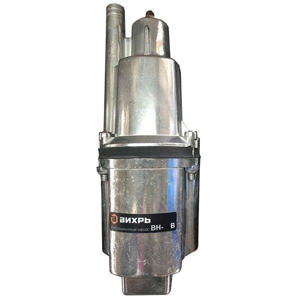 Погружной насос Вихрь ВН-40ВВибрационные насосы<br>Модель Вихрь ВН-40В представляет собой вибрационный погружной насос бытового типа, используемый для создания систем водоснабжения на участках разных типов. Рассматриваемый агрегат эффективно и с минимальными затратами электроэнергии перекачивает пресную чистую воду из ближайших к участку водоемов или резервуаров. Устройство не подходит для длительной беспрерывной работы.<br>Особенности и преимущества насосов Вихрь представленной серии:<br><br>Высота подъема воды до 72 м;<br>Легкость в использовании;<br>Эксплуатация в вертикальном и горизонтальном положении;<br>Разборные части насоса надежно стянуты болтами;<br>Отверстия для троса - удобство погружения/поднятия.<br><br>Долговечные и энергоэффективные вибрационные насосы Вихрь применяются в хозяйстве, на производстве, а также на объектах жилого типа и позволяют перекачивать или транспортировать чистую воду с разными целями. Оборудование такого типа подходит для использования в суровых условиях, не боится агрессивного внешнего воздействия и отличается гарантированным увеличенным сроком службы.<br><br>Страна: Россия<br>Производитель: Китай<br>Производ. л/мин: 18<br>Max глубина погружения, м: 3<br>Мощность, Вт: 280<br>Напряжение сети, В: 220 В<br>Длина кабеля, м: 40<br>Max напор, м: 72<br>Защита от сухого хода: Нет<br>Материал корпуса: Нет<br>диаметр подсоединения, дюйм: 3/4<br>Max темп. жидкости, С: 35<br>Класс защиты: IPX8<br>Качество воды: Чистая<br>Установка насоса: Вертикальная<br>Габариты ВхШхГ, см: 43x10x10<br>Вес, кг: 6<br>Гарантия: 1 год<br>Наличие обратного клапана: Есть<br>Ширина мм: 100<br>Высота мм: 430<br>Глубина мм: 100