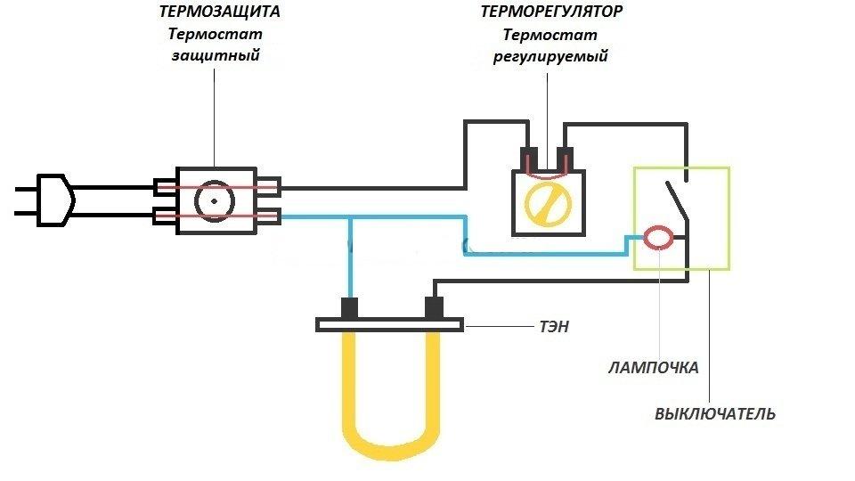Терморегулятор для бойлера схема