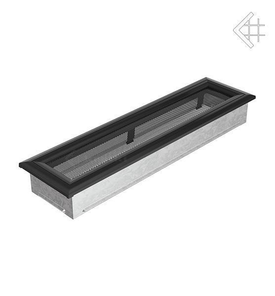 Вентиляционная решетка для камина Kratki Kratki 11х42 оскар черная 42OC