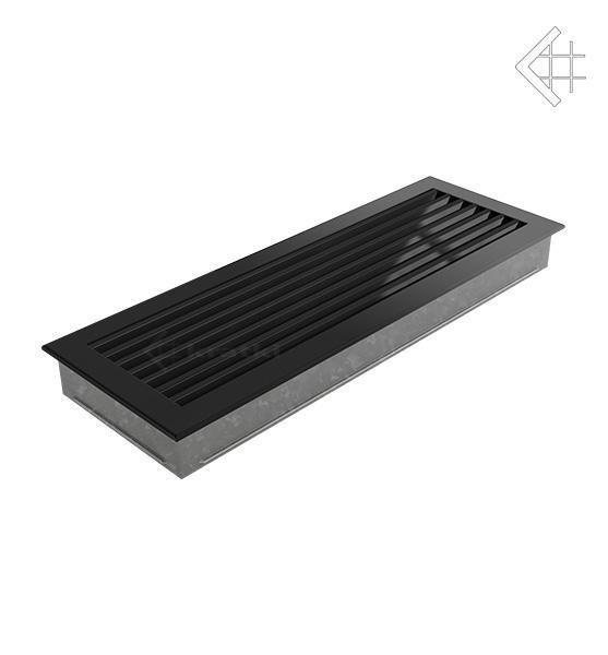 Вентиляционная решетка для камина Kratki Kratki 17х70 FRESH черная 70C/FRESH