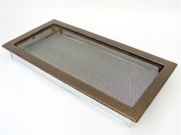 Вентиляционная решетка Kratki 22х45 черная/медь пористая 22/45M фото