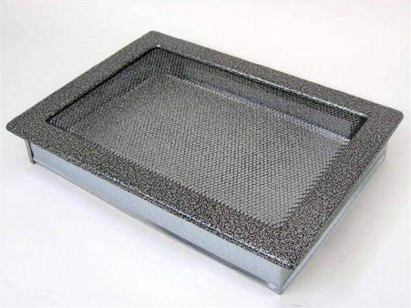 Вентиляционная решетка Kratki 22х30 черная/хром пористая 22/30CS фото