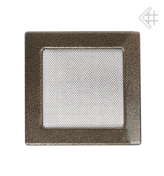 Вентиляционная решетка Kratki 22х22 черная/латунь пористая 22CZ фото