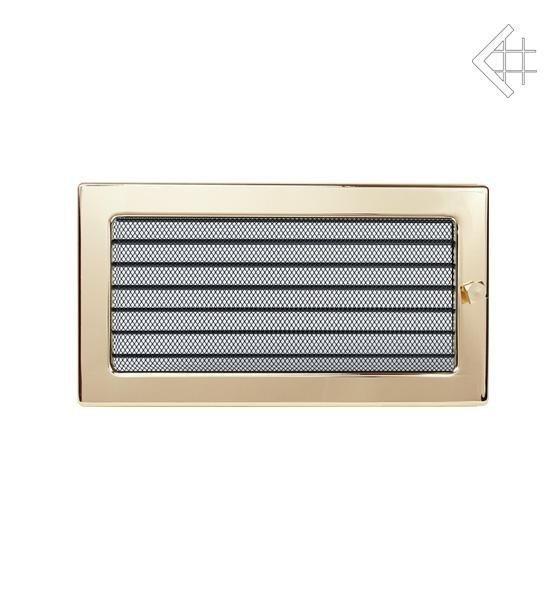 Вентиляционная решетка Kratki 17х30 полированная латунь с жалюзи 30ZX фото