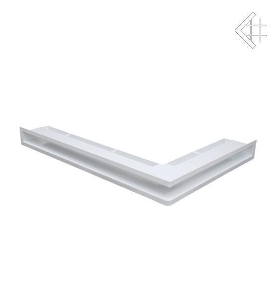 Вентиляционная решетка Kratki Kratki Люфт угловая левая белая 60 LUFT/NL/60/B
