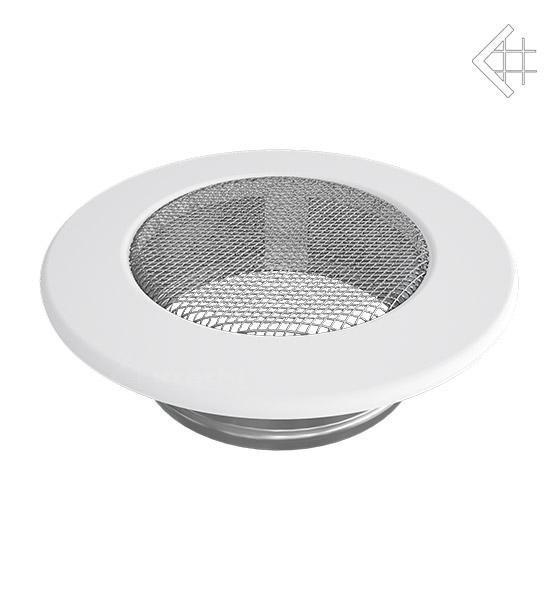 Вентиляционная решетка Kratki КРУГЛАЯ белая д.100 FI/100B фото