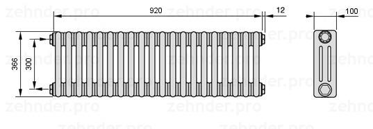 Радиатор отопления Zehnder 3037/18 фото