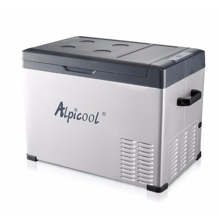 Китайский автохолодильник компрессорный Alpicool C40 (40 л.) 12-24-220В черный фото