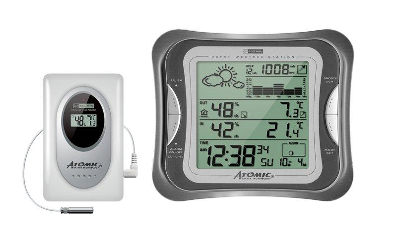 Цифровая метеостанция с радиодатчиком Atomic W839110-S