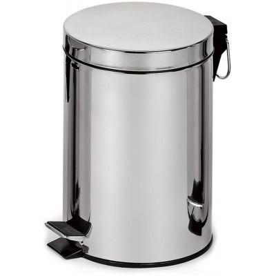 Урна для мусора BINELE, Металл;полированный, BINELE Classic 12 литров (полированная)