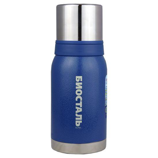 Термос Biostal Biostal Охота (0,75 литра) 2 чашки - синий